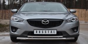 Mazda CX-5 2011- Защита переднего бампера d63 (секции) d42 (дуга) M5Z-001135